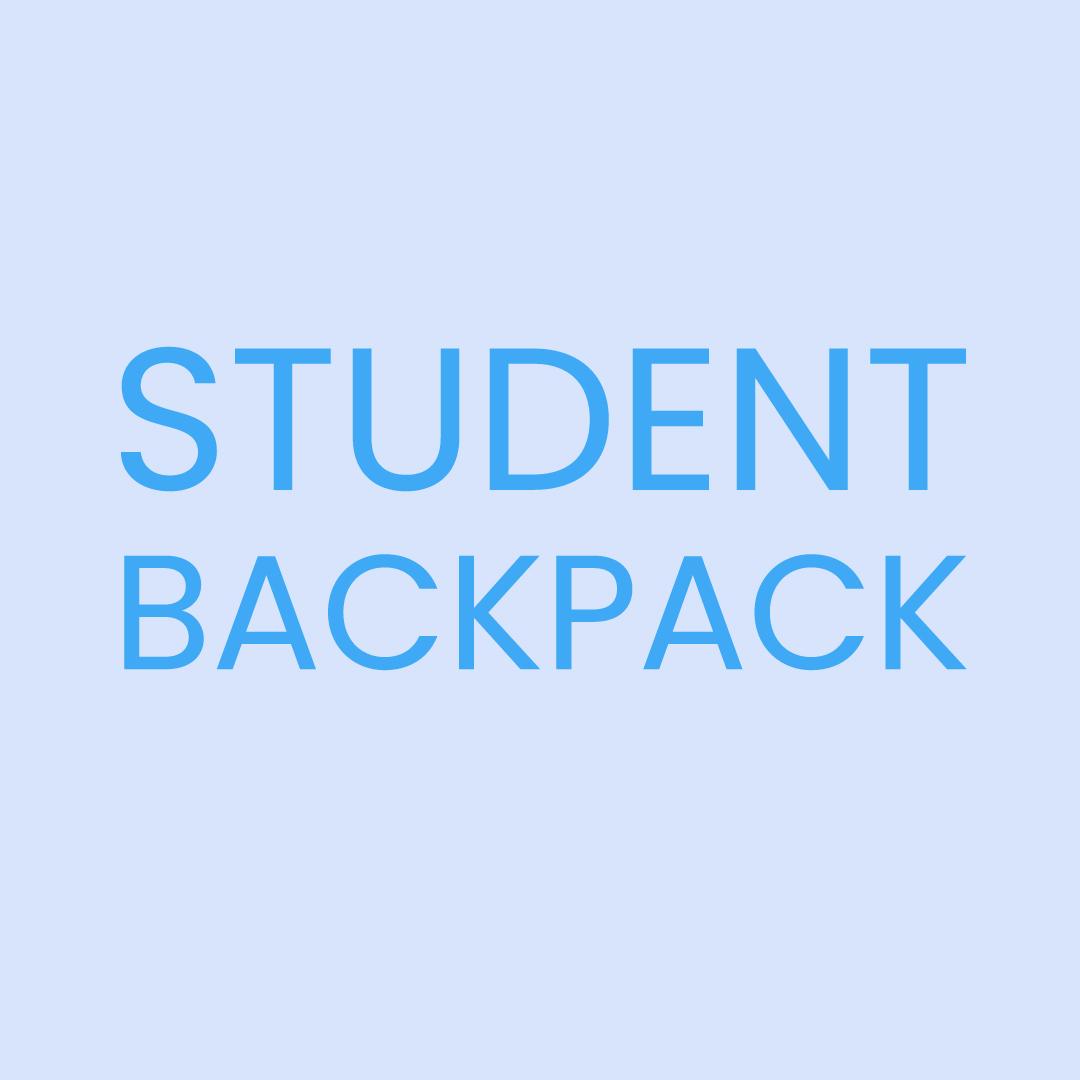 Student Backpack logo