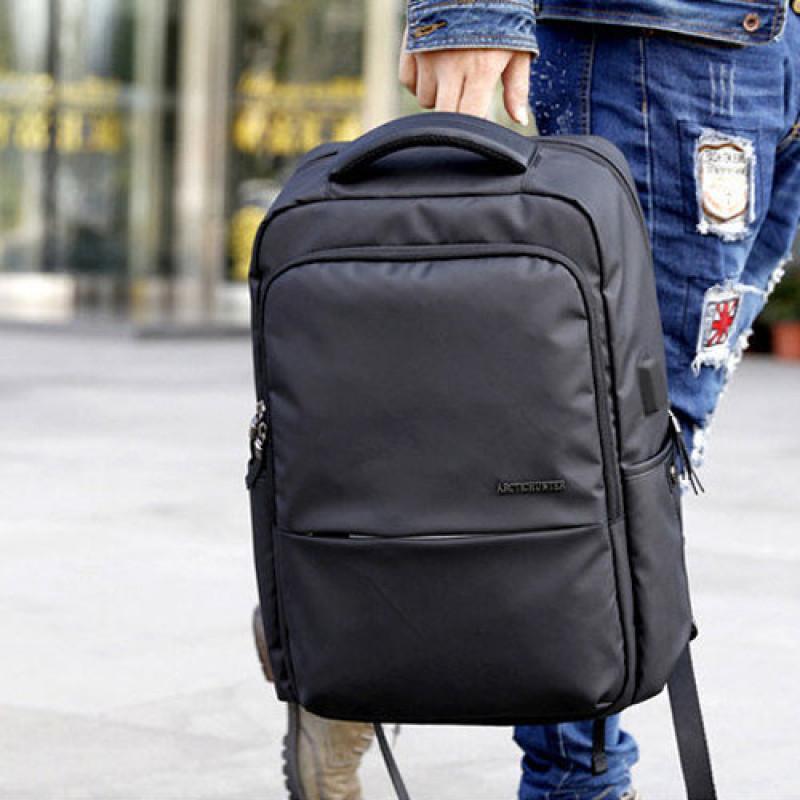 Arctic Hunter B00069 14 Inch Laptop Bag With Usb Port - (black)