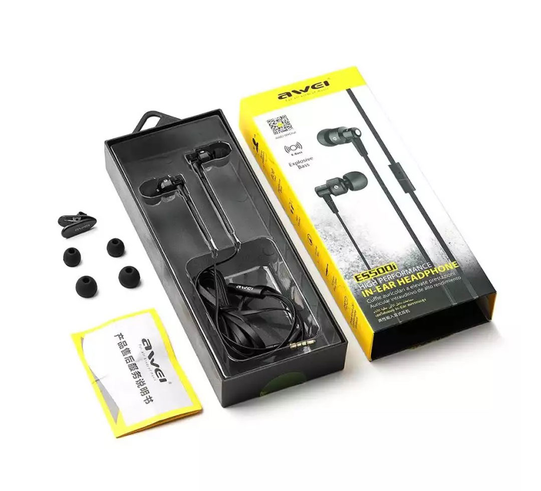 Awei Es-500i Heavy Base Earphone