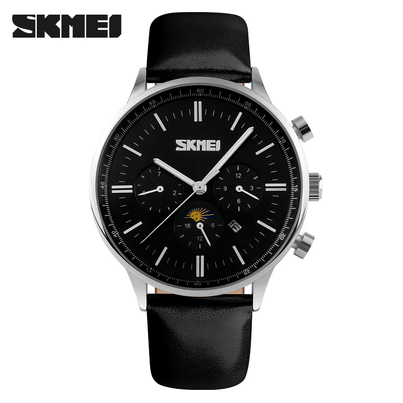 Skmei 9117sb Men Quartz Belt Wrist Watch