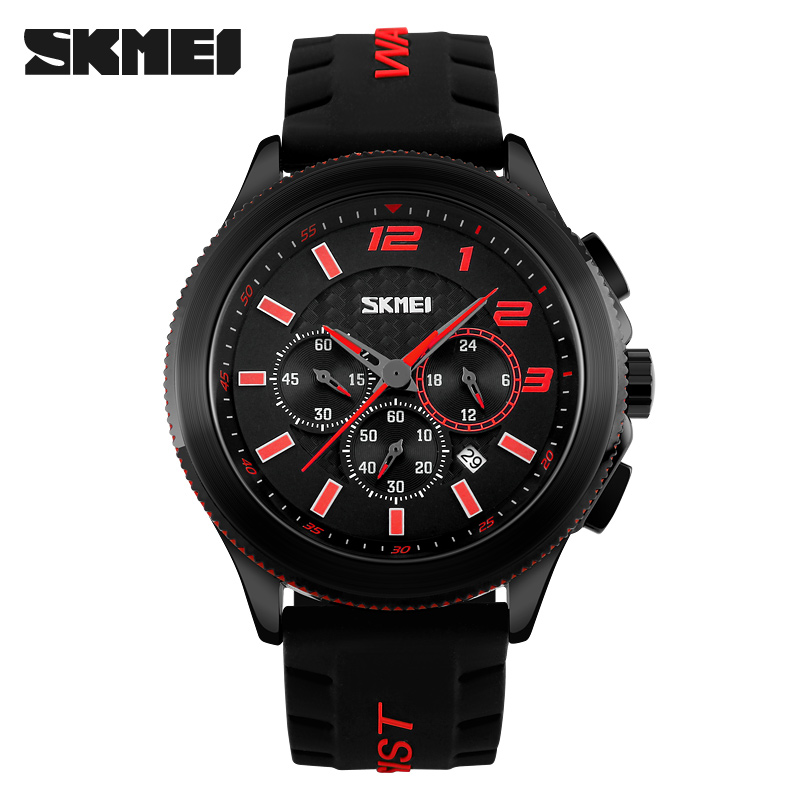 Skmei 9136rd Men Quartz Belt Wrist Watch