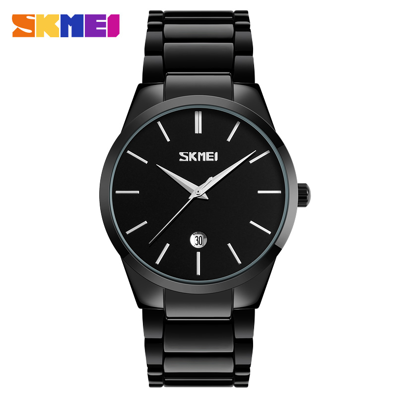Skmei 9140bl Quartz Stainless Steel Zinc Alloy Water Resistant Watch