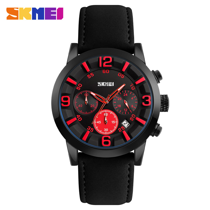 Skmei 9147rd Men Quartz Belt Wrist Watch