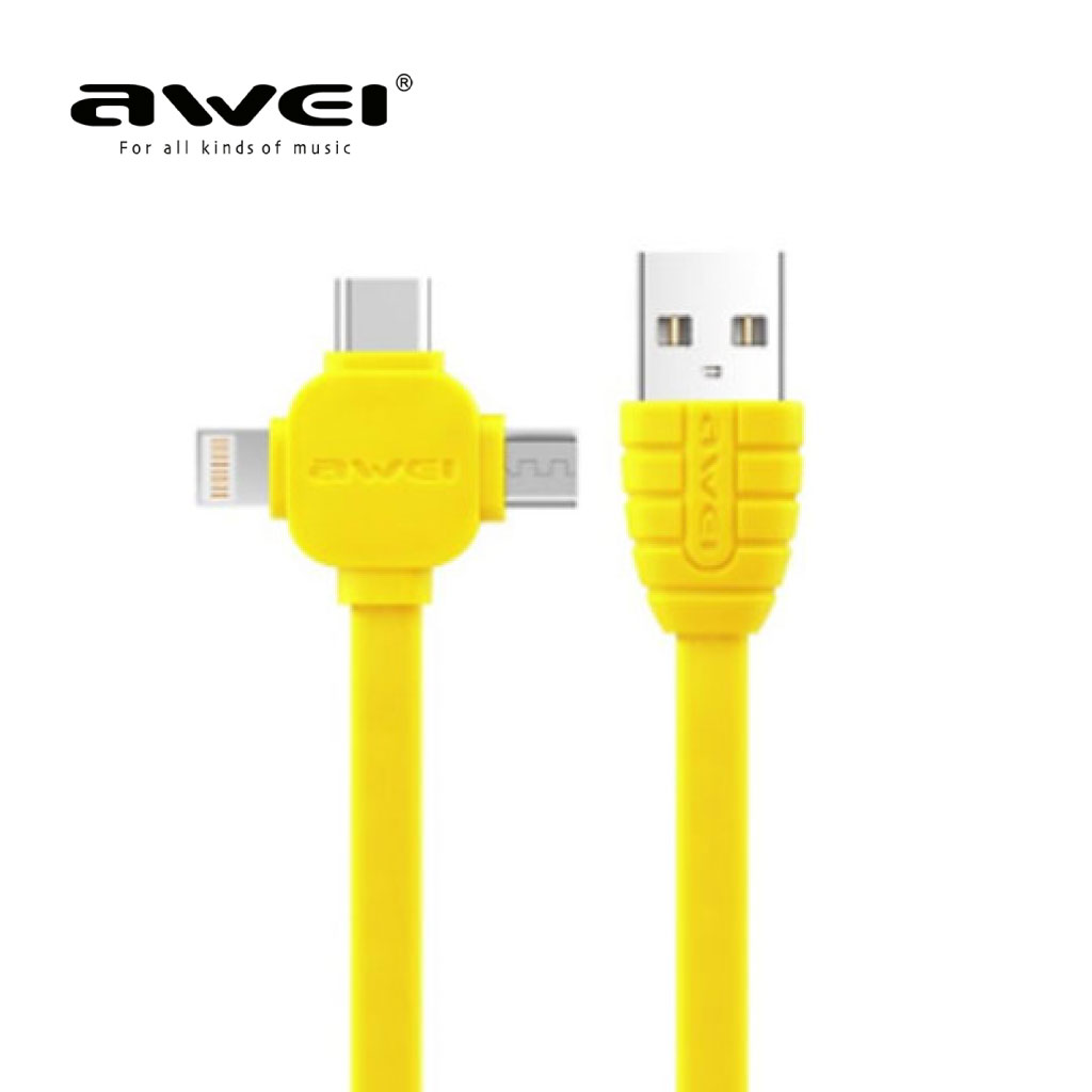 Awei Cl-82 3 In 1 Multi Charging Cable
