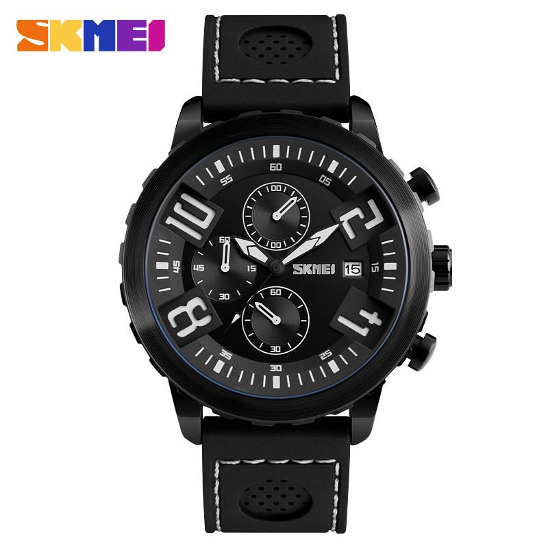 Skmei 9153bl Quartz Silica Gel Zinc Alloy Sports Water Resistant Watch