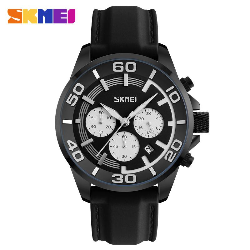 Skmei 9154bl Men Quartz Belt Wrist Watch
