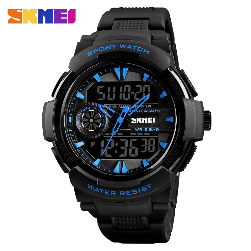 Skmei 1320bu Analog Digital Watch For Men And Women