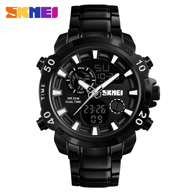 Skmei 1306bl Quartz Digital Zinc Alloy Fashionable Sports Water Resistant Watch