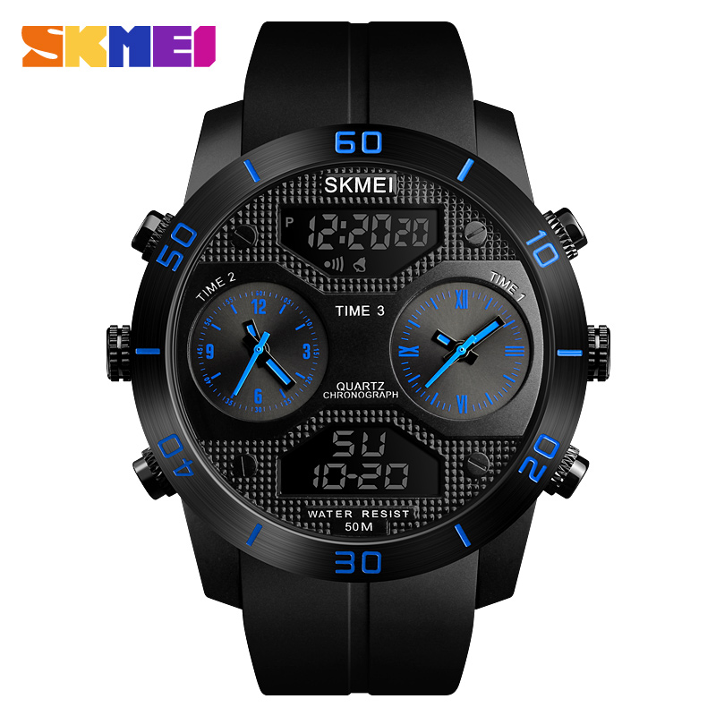 Skmei 1355bu Men Analog Digital Wrist Watch