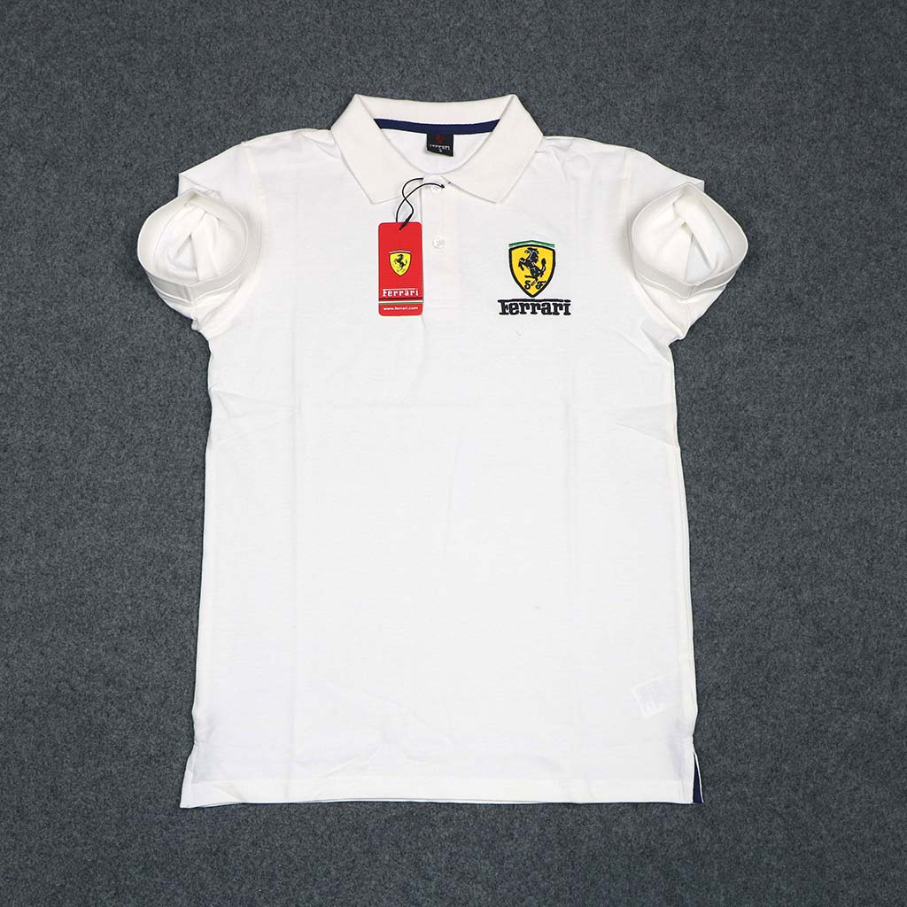 Ferrari Men's Polo T-shirt (off White) 2xl