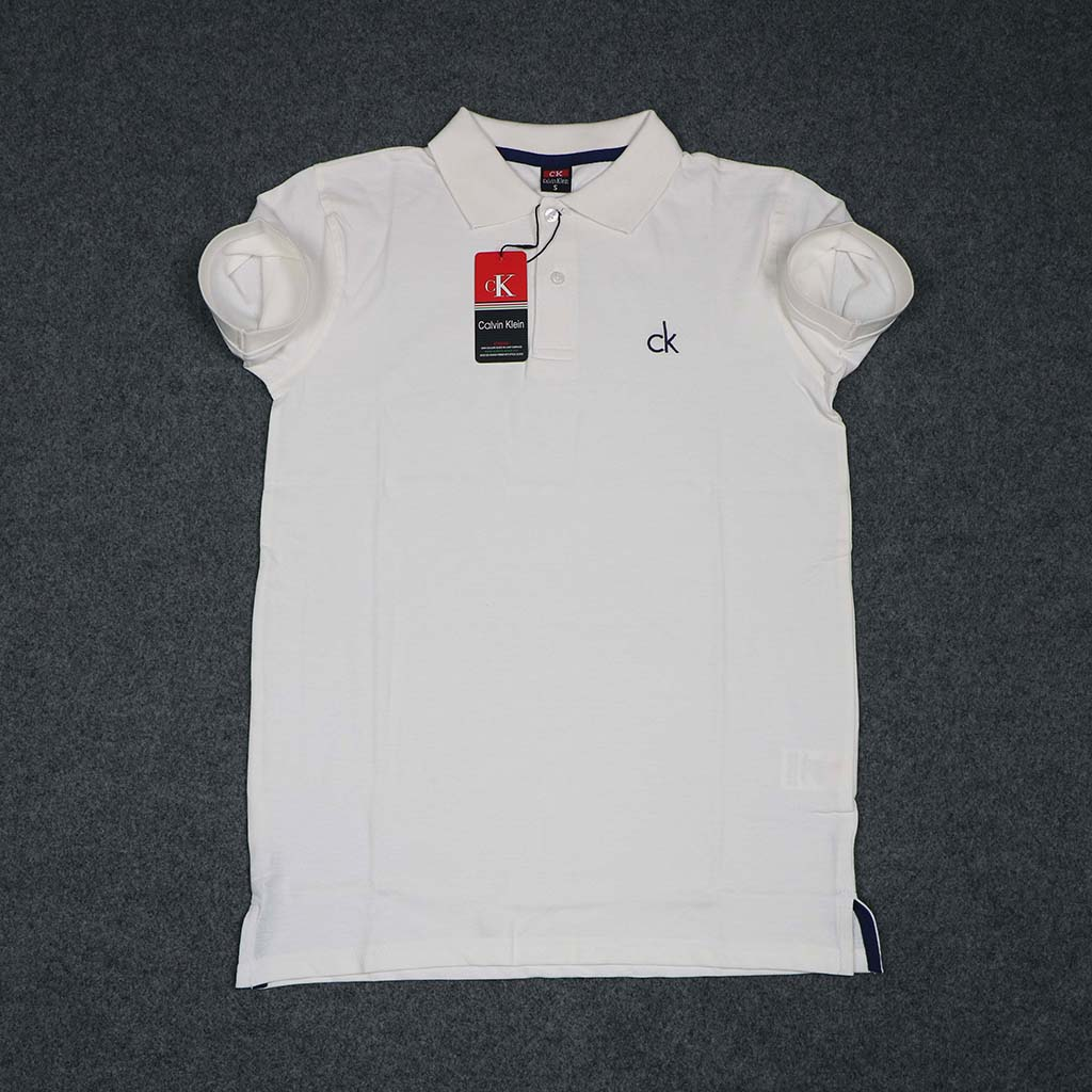 Calvin Klein Men's Polo T-shirt (off White) S