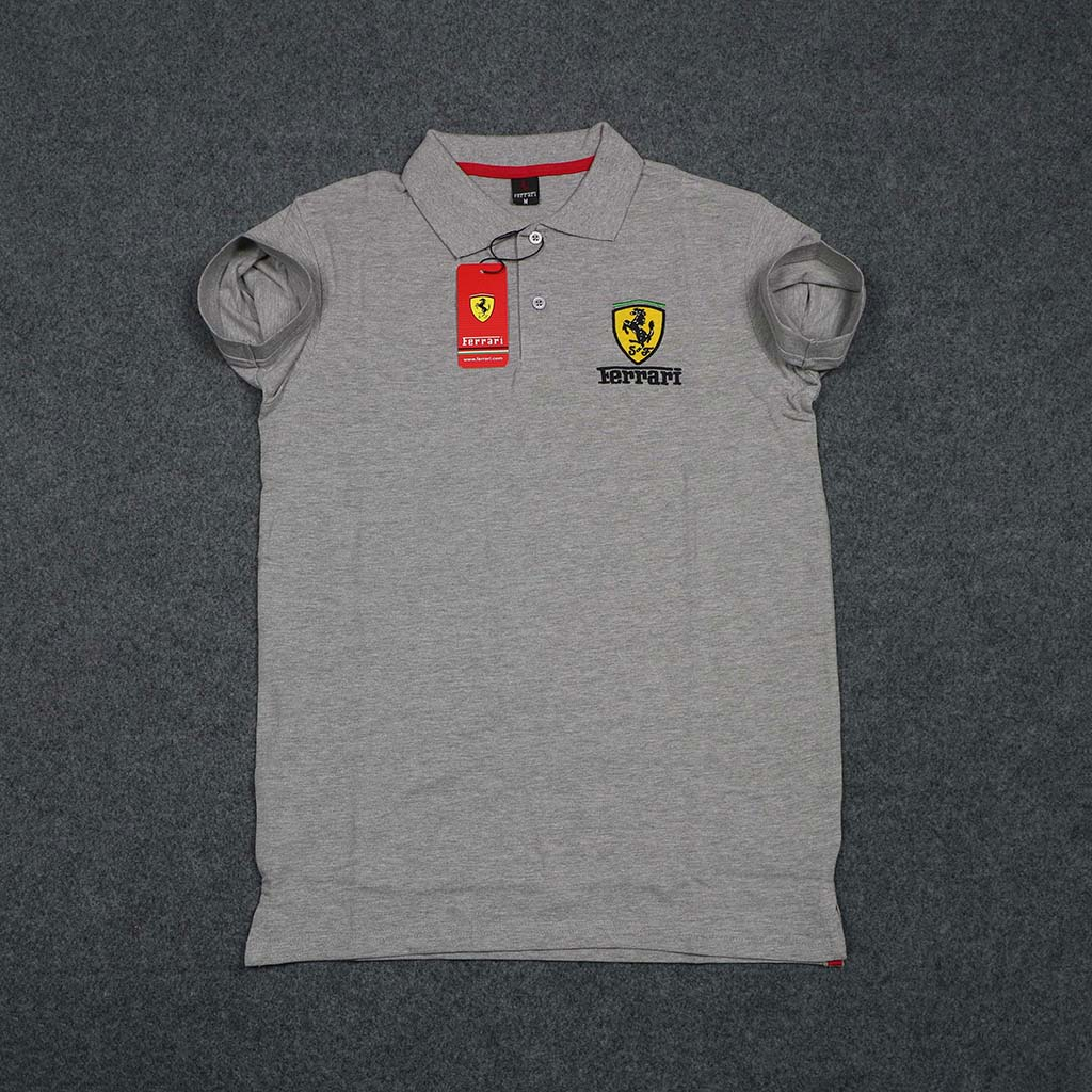 Ferrari Men's Polo T-shirt (ash) M
