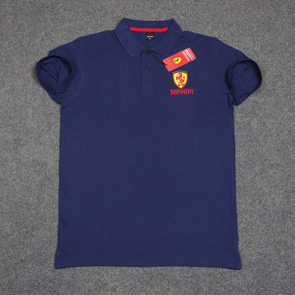 Ferrari Men's Polo T-shirt (blue) L