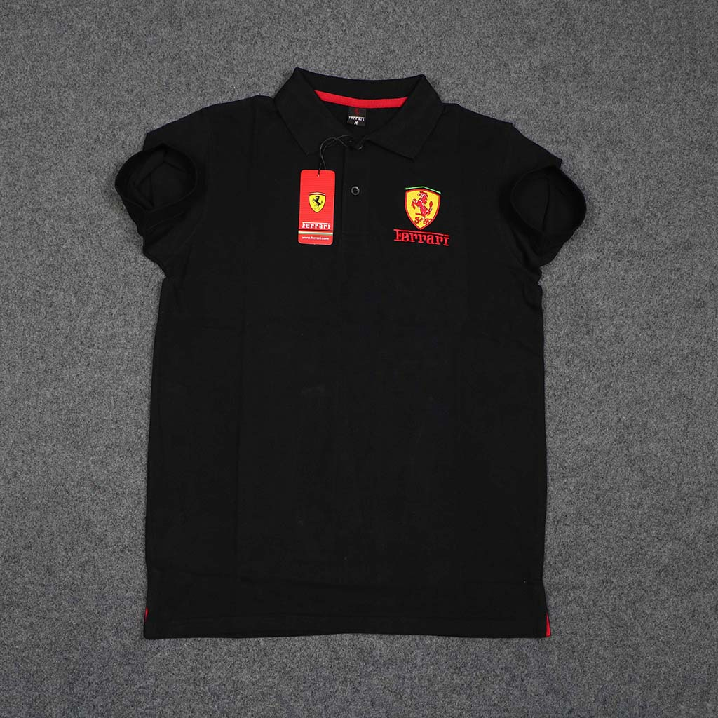 Ferrari Men's Polo T-shirt (black) L