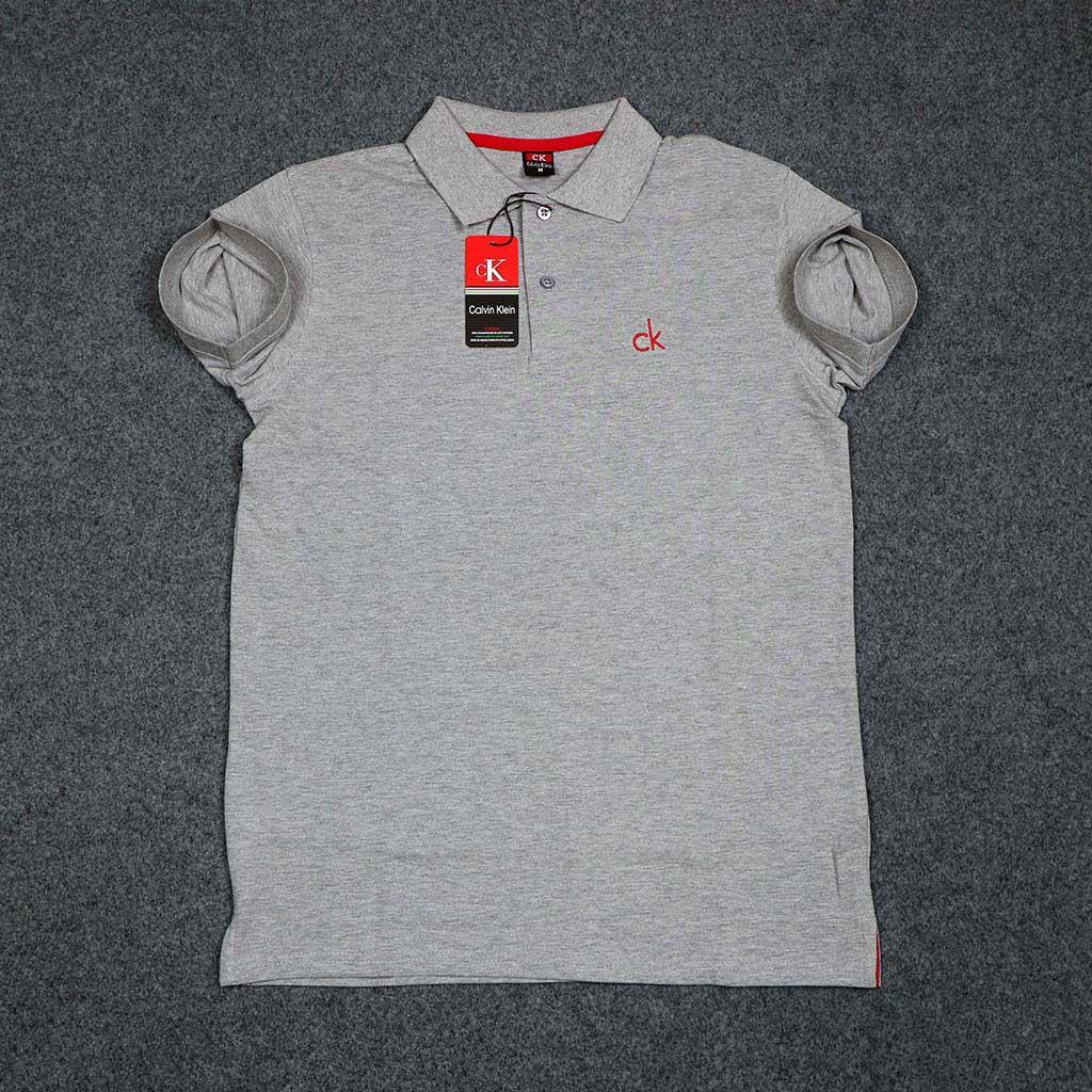 Calvin Klein Men's Polo T-shirt (ash) S