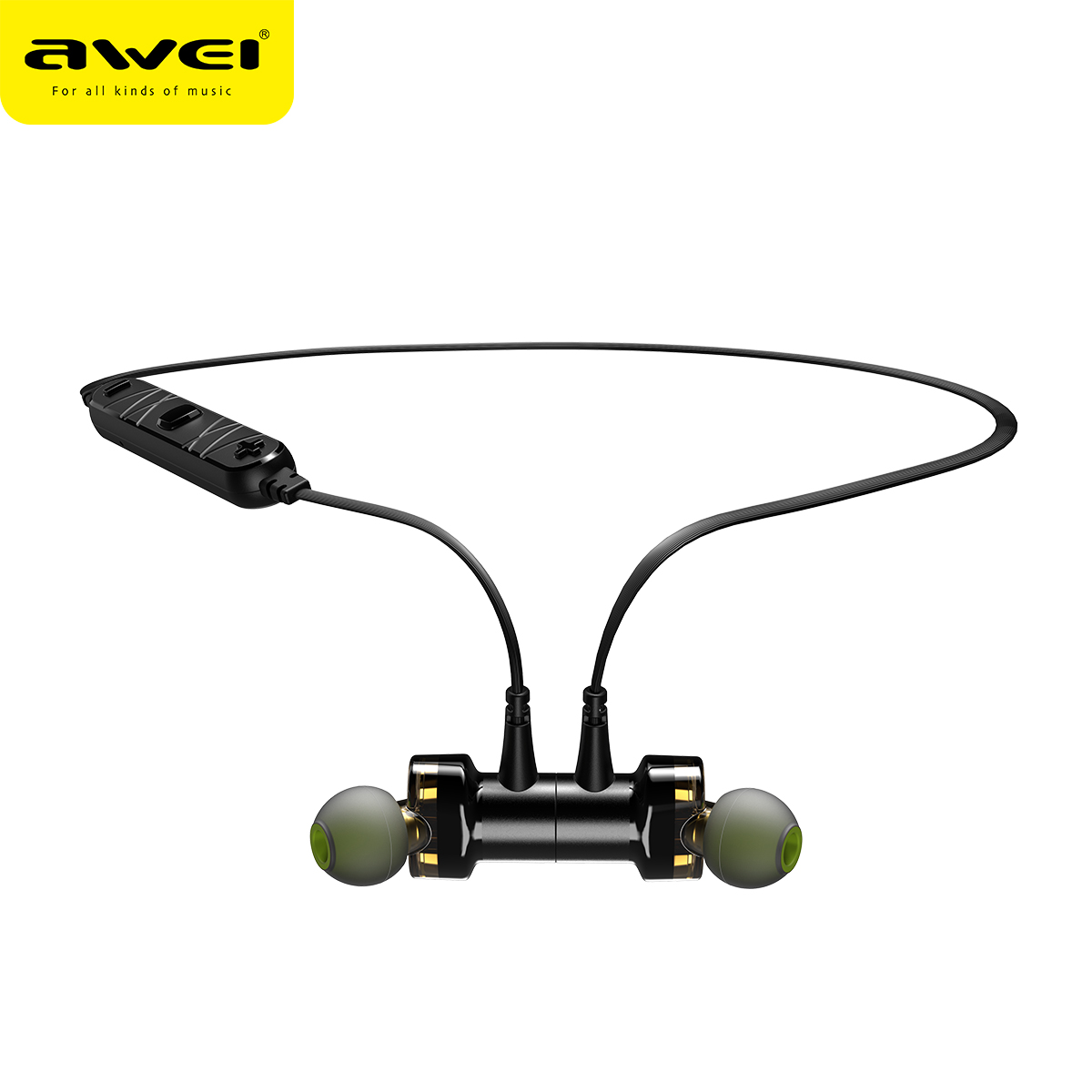 Awei X-660bl Quad-core Necked Magnetic Bluetooth Earphone
