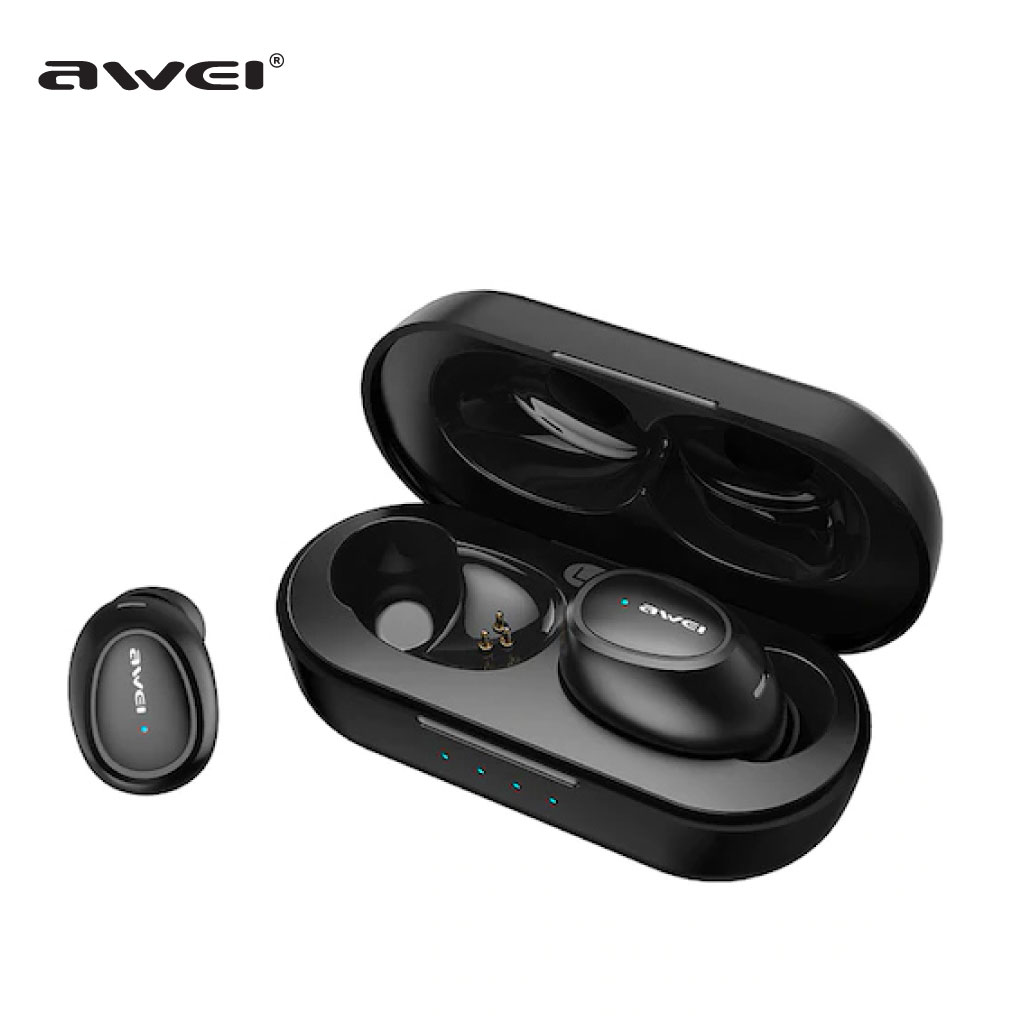 Awei T-16 Tws Wireless Charging Binaural In-ear Earphones Stereo Bluetooth 5.0 Earbuds With Charger Dock Ipx4 Waterproof