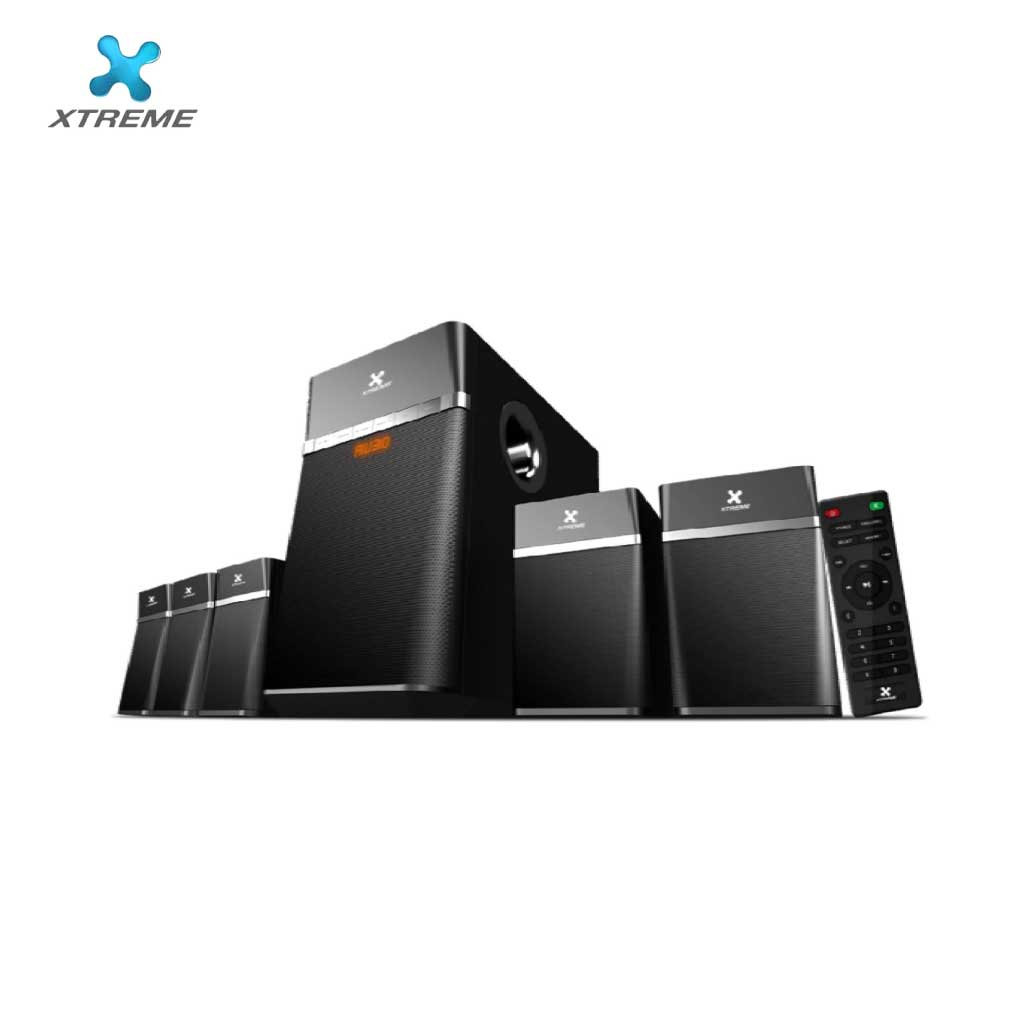 Xtreme E522bu Multimedia Speaker With Remote 5:1 (usb/mmc/bt)