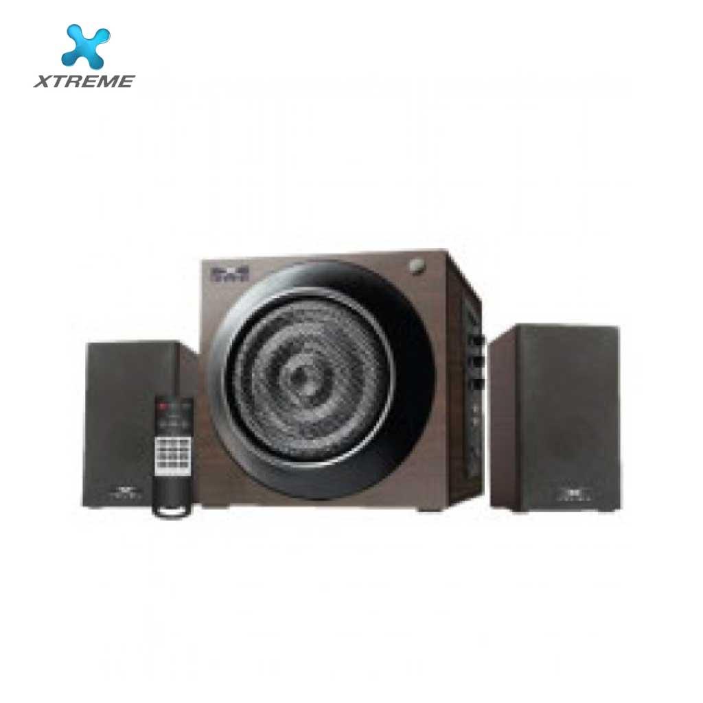 Xtreme E206bu Multimedia Speaker With Remote 2:1 (usb/mmc/bt)