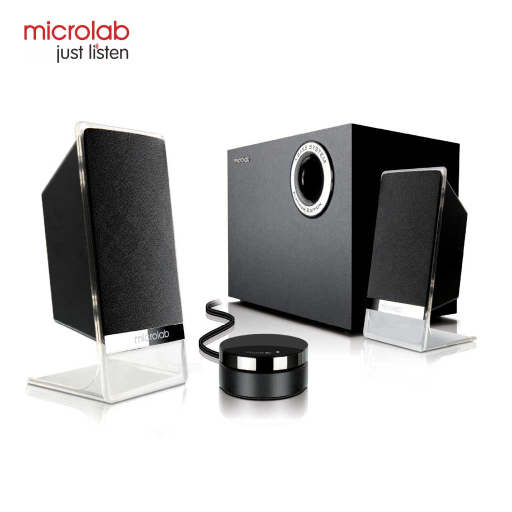 Microlab M200bt Platinum Multimedia Bluetooth Speaker 2:1 With Volume Control