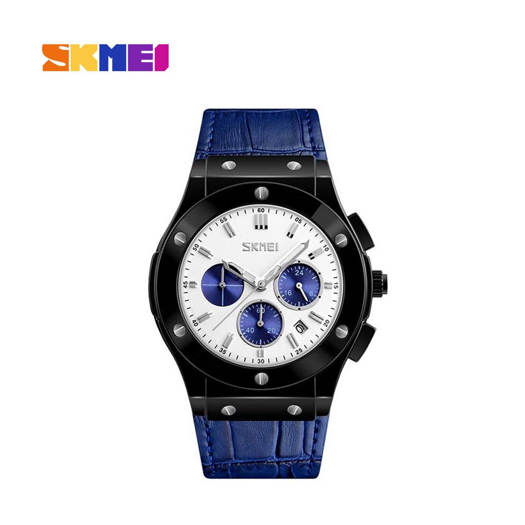 Skmei 9157bu Men Quartz Belt Wrist Watch