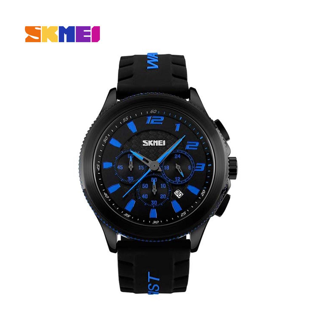 Skmei 9136bu Men Quartz Belt Wrist Watch