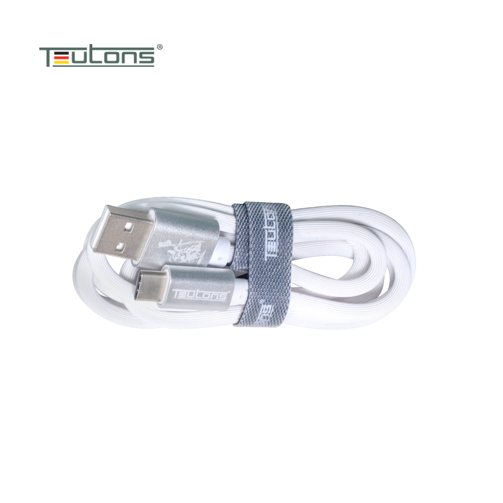Teutons Zlin-fc124 (1.m) True Length Usb Type-c Fast Charging Cable - White