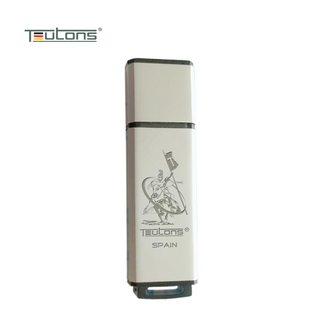 Teutons Metallic Creek 32gb Usb 3.1 Gen-1 Flash Drive (white)