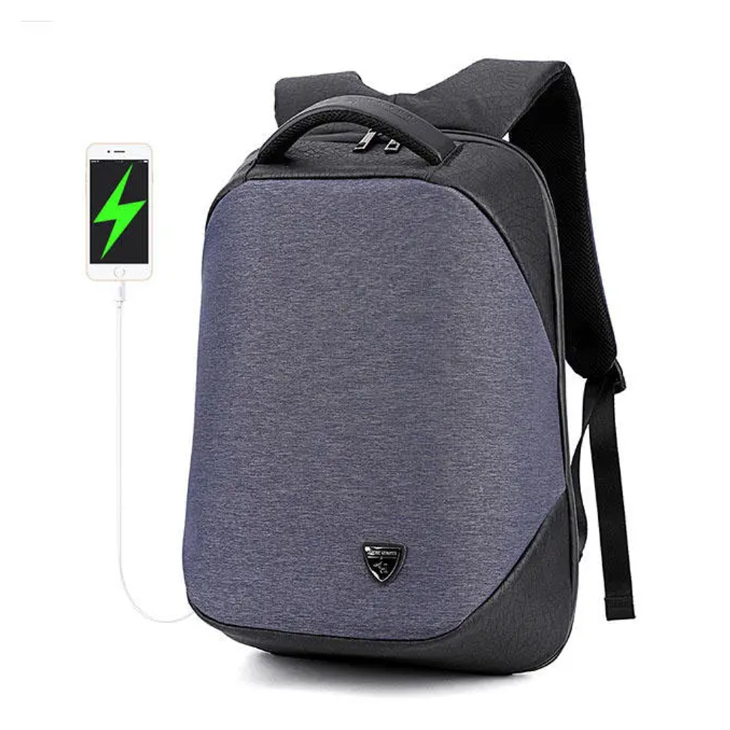 Arctic Hunter Anti-theft Laptop Bag With Usb Port (14 Inch ) - B00193 Blue