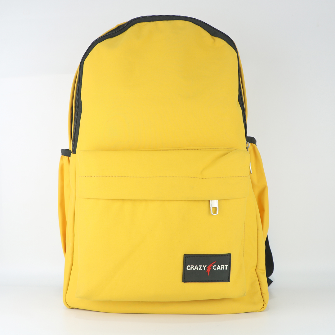 Crazy Cart Stylish Backpack (a-920y) Yellow