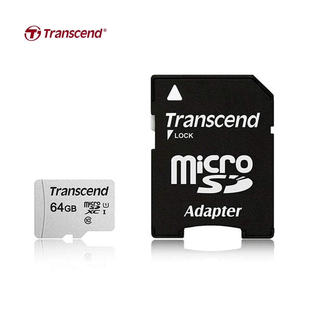 Transcend 64gb Microsd Uhs-i U3a1 Memory Card With Adapter