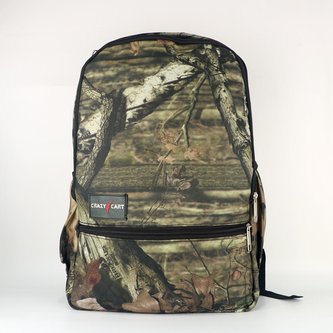 Crazy Cart Stylish Canvas Fabric Backpack (a-267o)