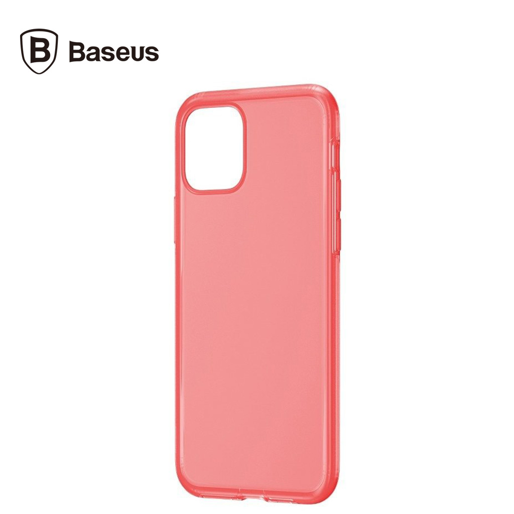 Baseus Jelly Liquid Silica Gel Transparent Protective Case For Iphone 11 (red)