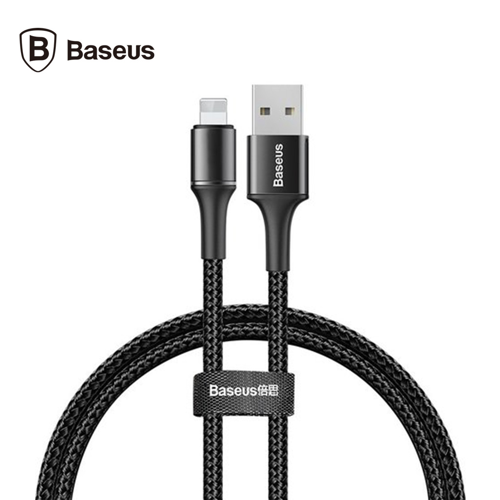 Baseus Halo Data Cable Usb For Iphone 2.4a 0.5m (black)