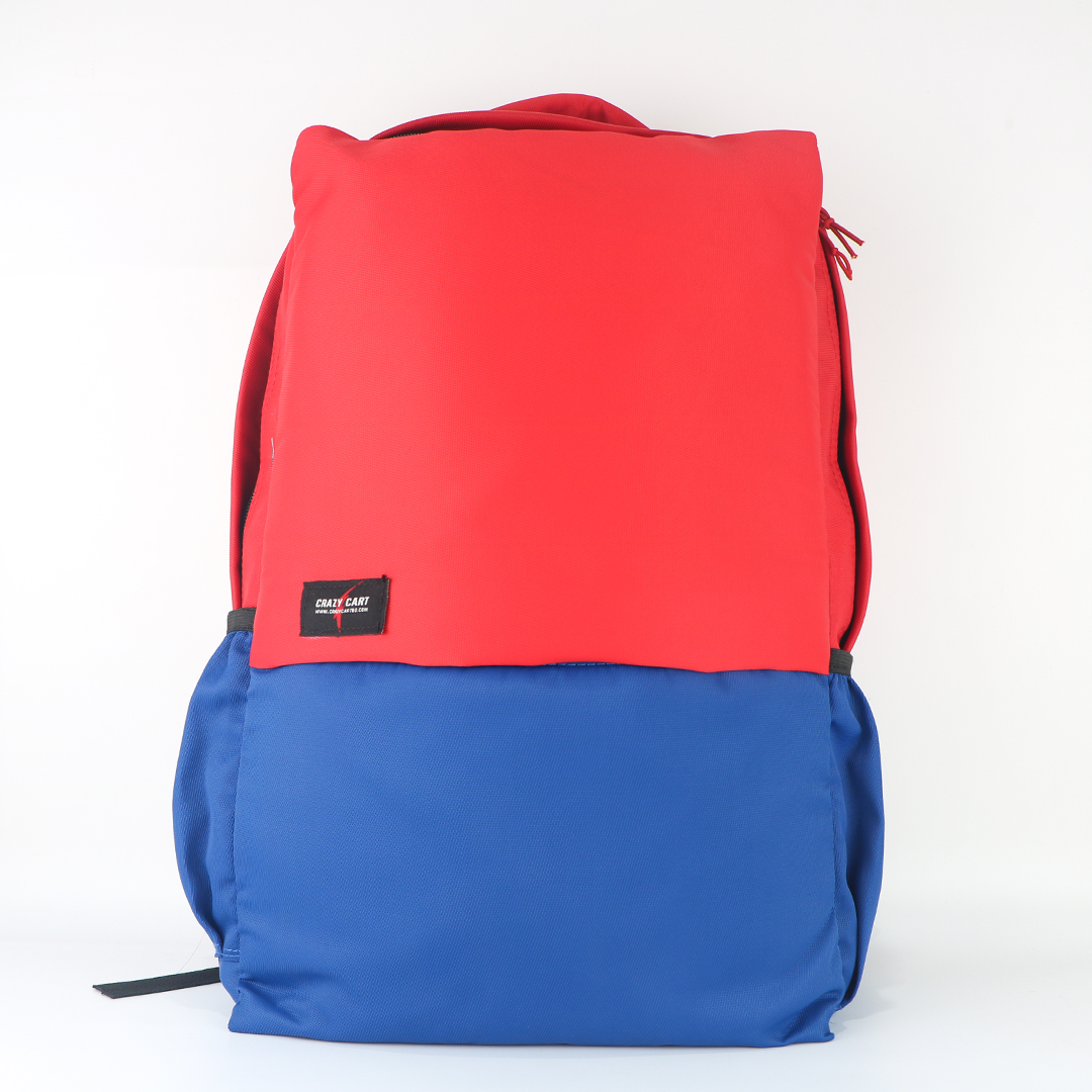 Crazy Cart Stylish Canvas Fabric Backpack (a-256)