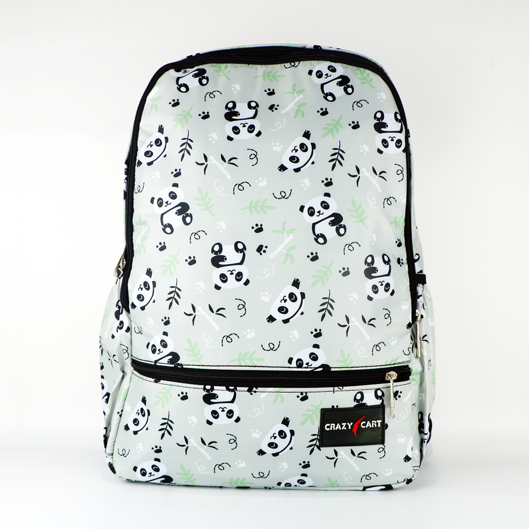 Crazy Cart Stylish Cotton Fabric Backpack (a-320p)