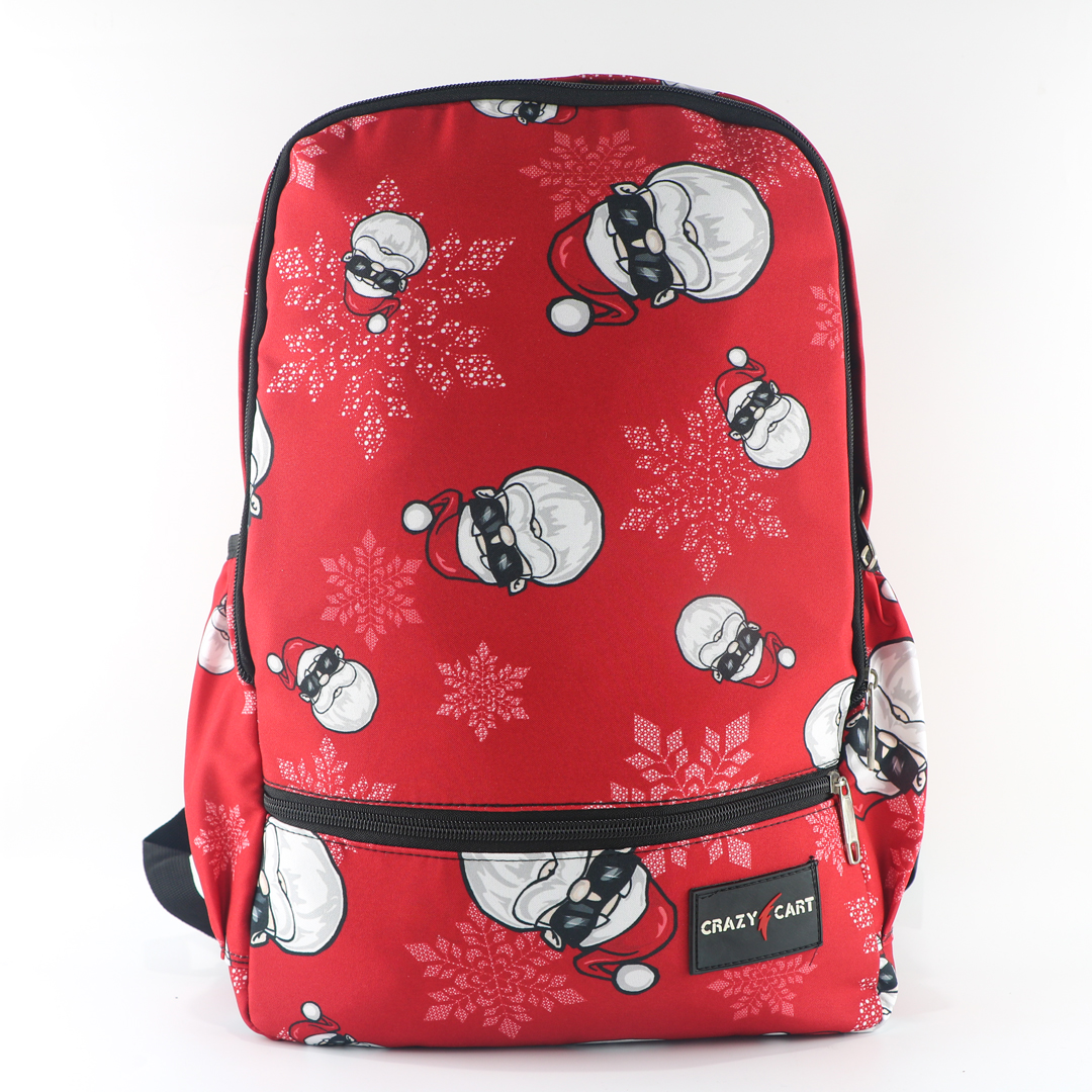 Crazy Cart Stylish Cotton Fabric Backpack (a-315r)