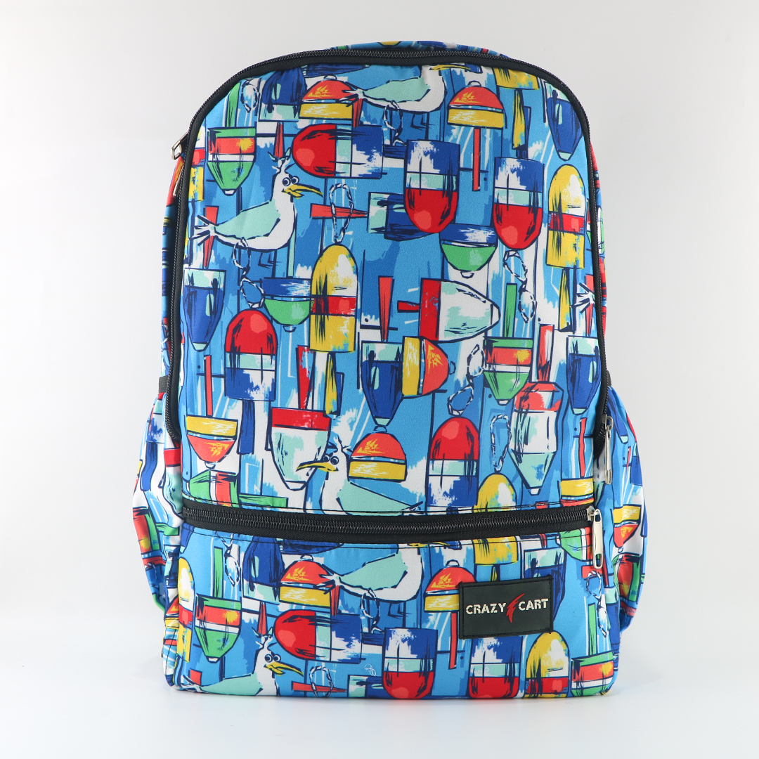 Crazy Cart Stylish Cotton Fabric Backpack (a-311sb)