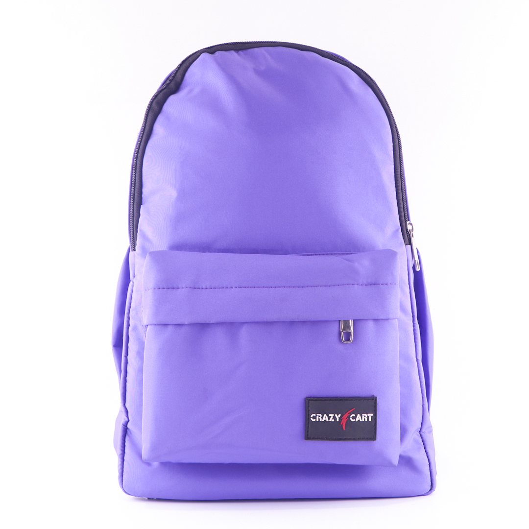 Crazy Cart Stylish Backpack (a-285p) Purple
