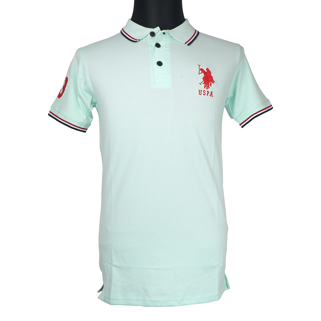 Men's Polo T-shirt - Pastel Green