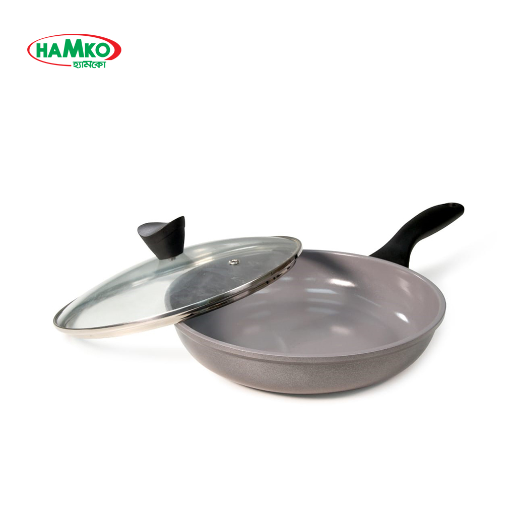 Hamko 6702 Ceramic Coated Non-stcik Frying Pan With Lid 26cm (10 Inch)