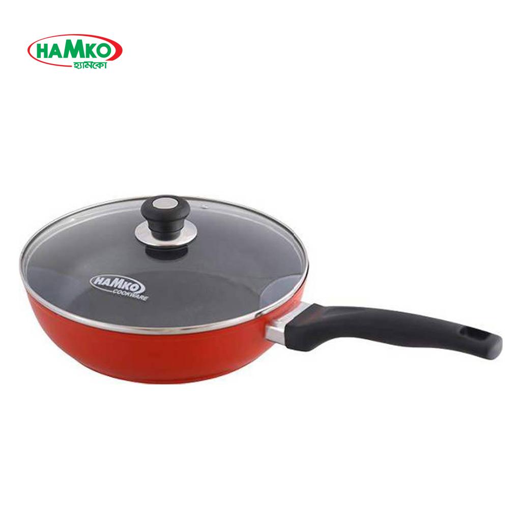 Hamko Ha2-01 Deep Frypan 20cm With G Lid Black