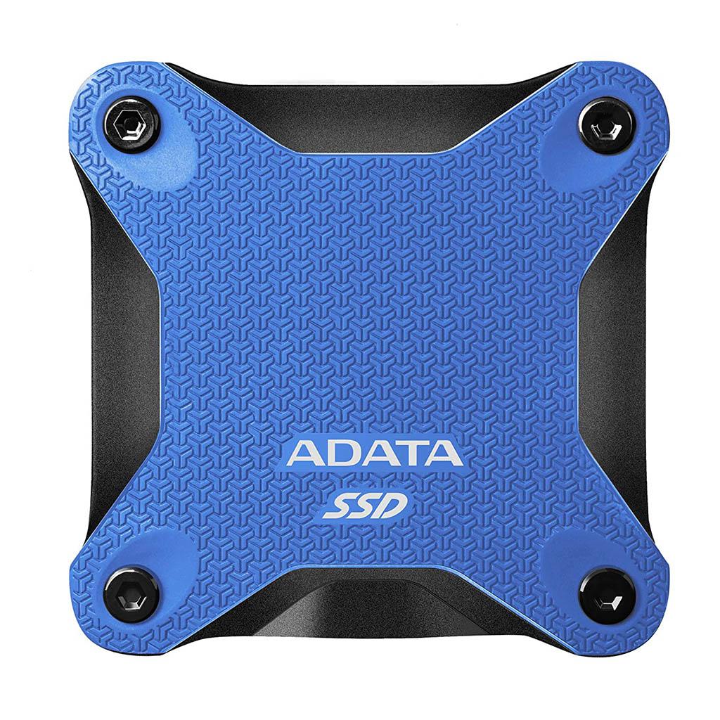 Adata Sd600q 240gb Usb 3.1 External Solid State Drive (blue)