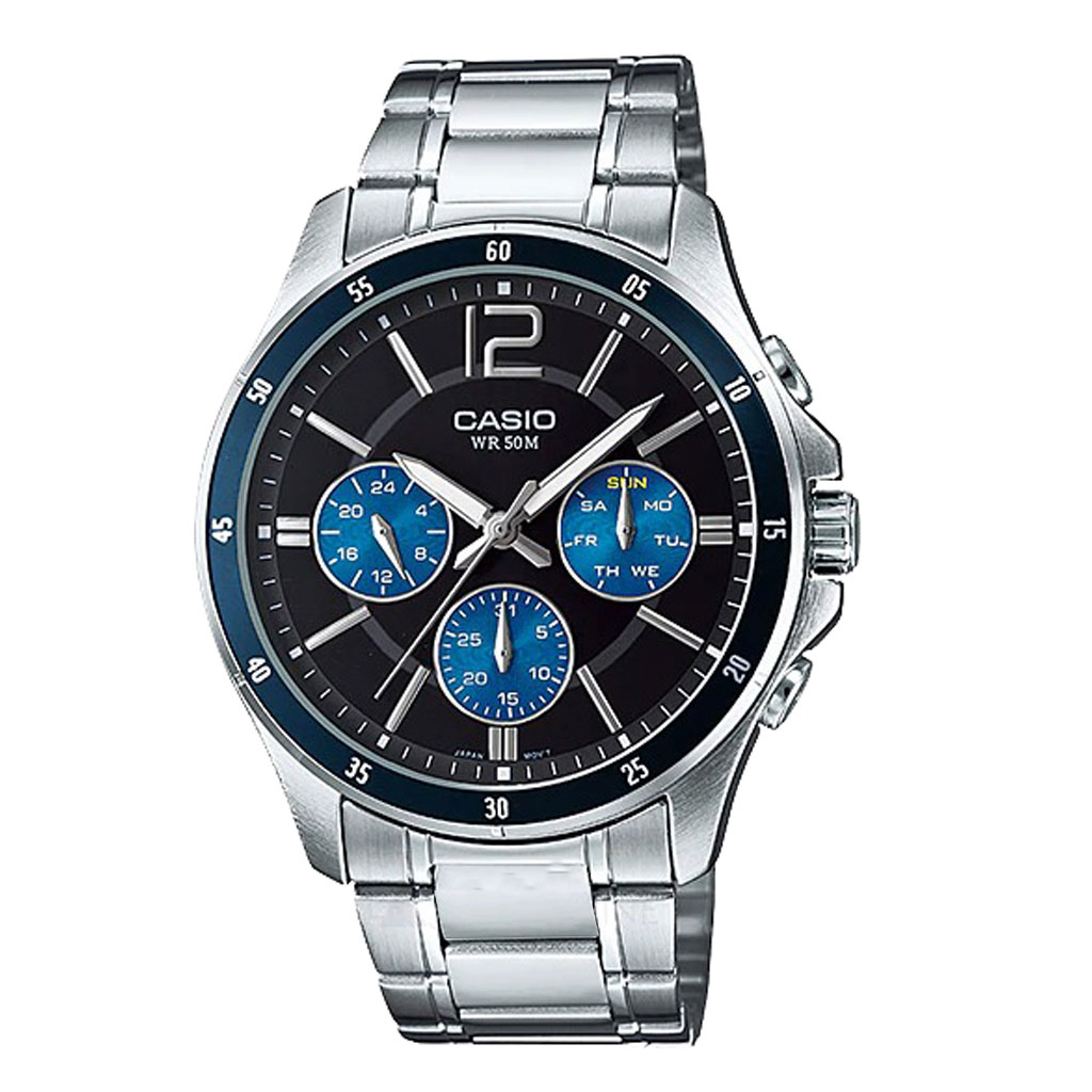 Casio Enticer Analog Black Dial Men Watch (mtp-1374d-2avdf)