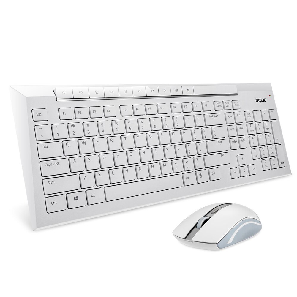 Rapoo 8200p Wireless Optical Mm Keyboard Mouse Set