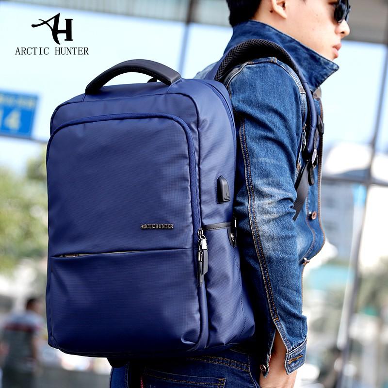 Arctic Hunter B00069 14 Inch Laptop Bag With Usb Port - (blue)