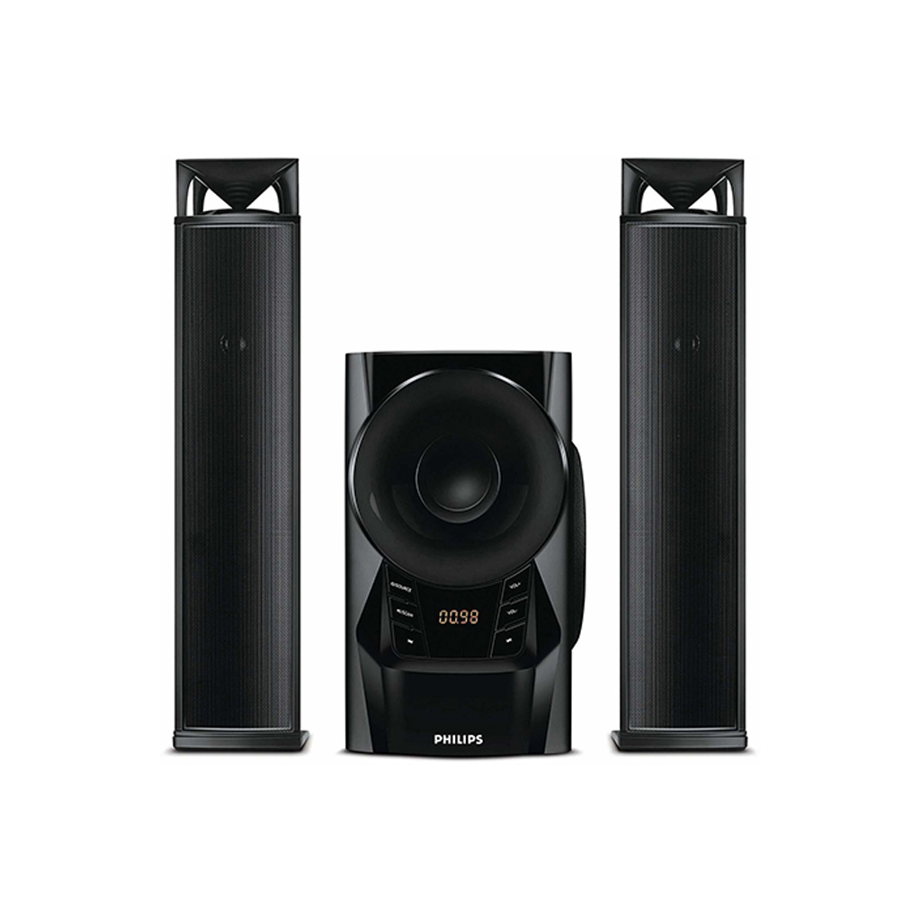 Philips Mms2160b (2:1) Sound Bar System Speaker With Remote