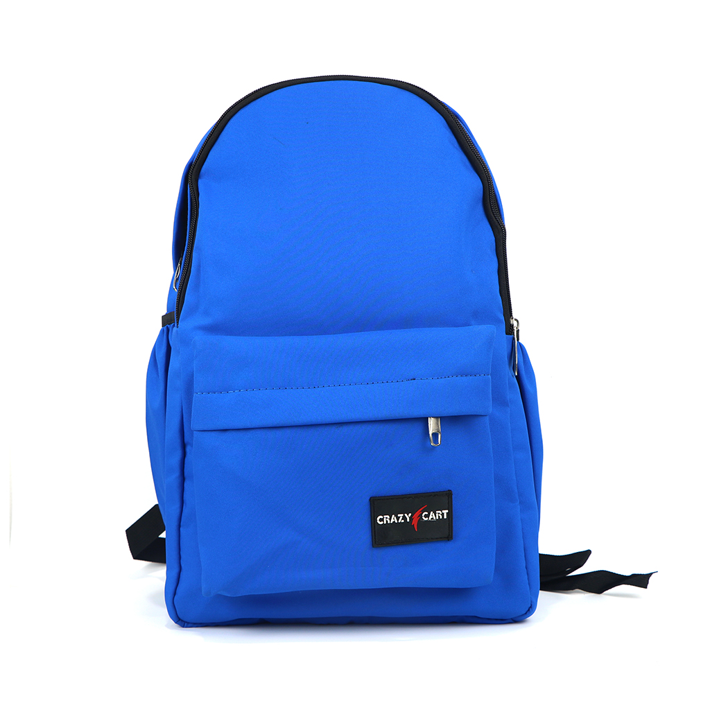 Crazy Cart Cotton Fabric Backpack (a-247bl) Blue