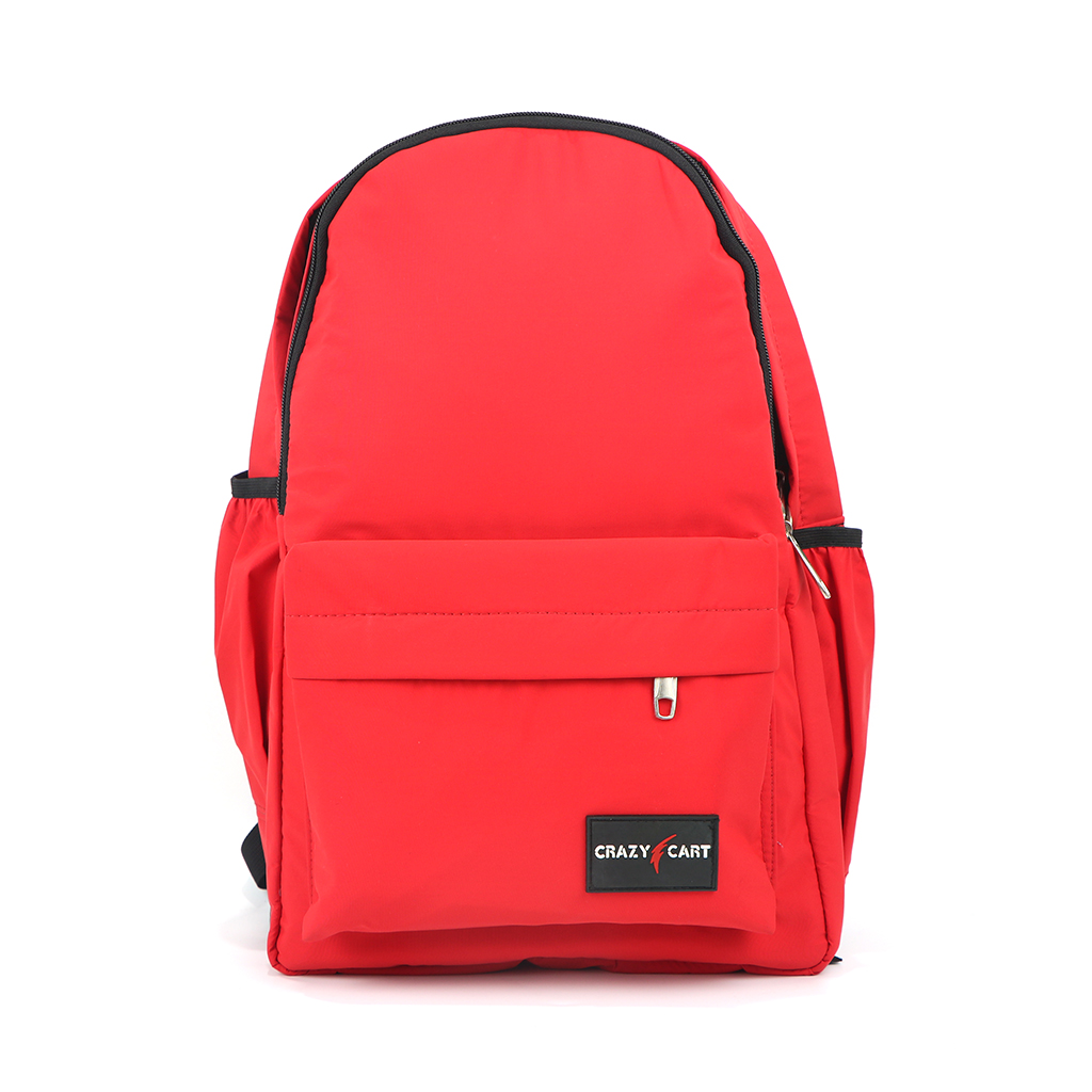 Crazy Cart Cotton Fabric Backpack (a-248r) Red