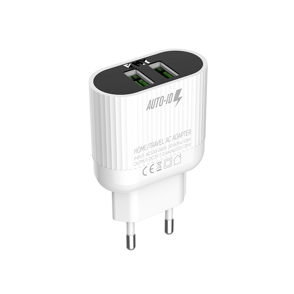 Emy Dual A202 Fast Charger With Data Cable For Iphone